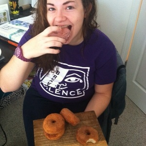 the lovely and hilarious Jace so sweet to be my donut model and co-test taster! love you Jace!