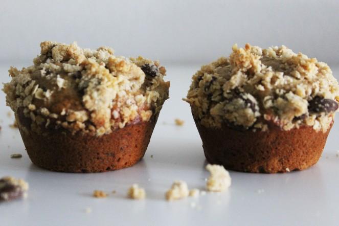 Banana Earl Grey Cocoa Nib Muffins || The Crowded Kitchen