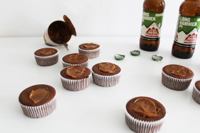 Chocolate Caramel Stout Cupcake || The Crowded Kitchen