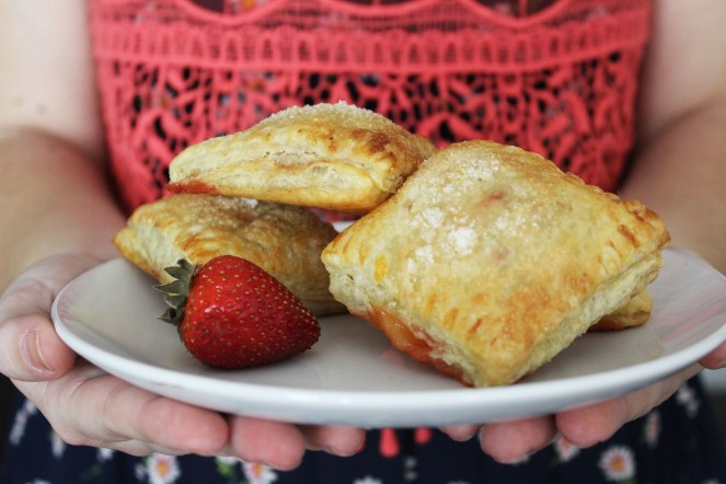 Lemon Curd + Roasted Strawberry Turnovers || The Crowded Kitchen