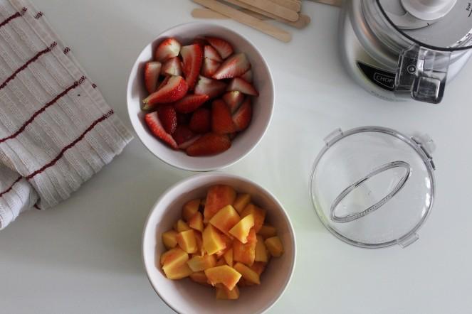 Strawberry + Papaya Popsicles    The Crowded Kitchen