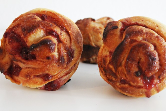 Lingonberry Morning Bun || The Crowded Kitchen