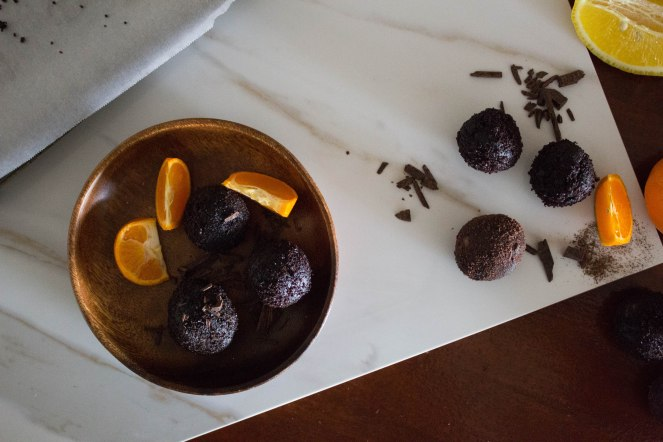 CHOCOLATE & SOUR ORANGE CAKE TRUFFLES 17