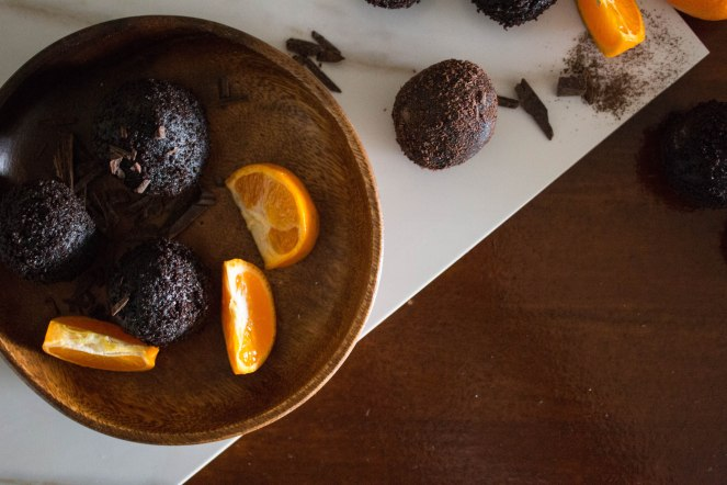 CHOCOLATE & SOUR ORANGE CAKE TRUFFLES 26