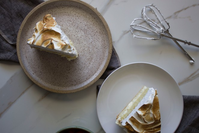 RHUBARB CREAMSICLE MERINGUE CAKE|| MY NEUROTIC FOOD STORIES