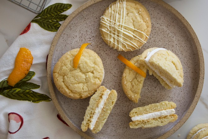 SESAME SEEDS + ORANGE MARSHMALLOW COOKIE SANDWICHES 31