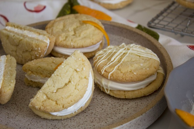 SESAME SEEDS + ORANGE MARSHMALLOW COOKIE SANDWICHES 35