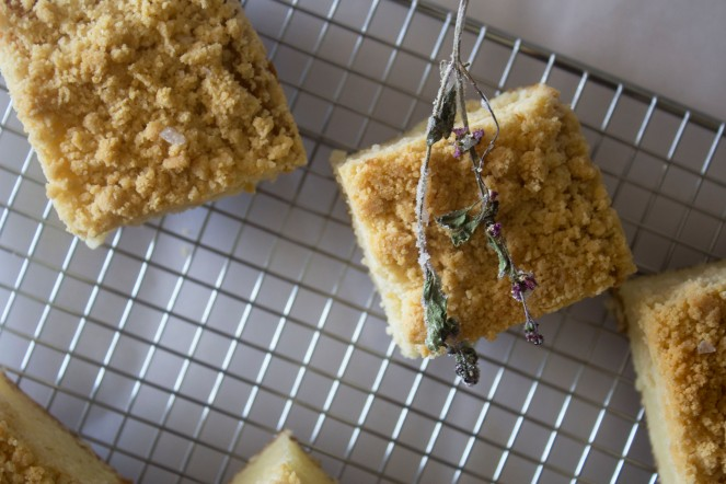 LEMON THAI BASIL SQUARE CAKE || NFS