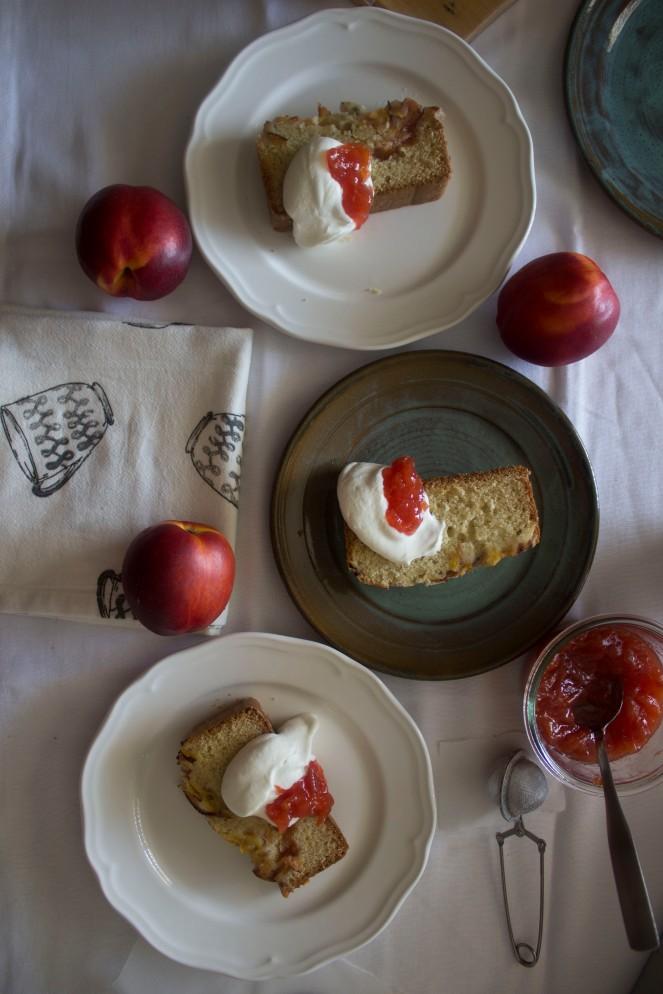 NECTARINE JAM & VANILLA BEAN CAKE || NFS